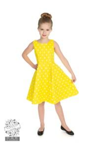 Cindy prickig klänning - cindy klänning gul/vit stl 3-4år