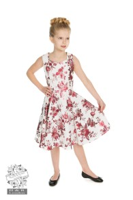 Aphrodite Metallic Swing dress - Aphrodite metallic dress stl 3-4år