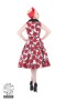 Red Rose Swing dress