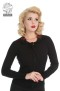 Rose Cardigan - rose kofta svart stl XL