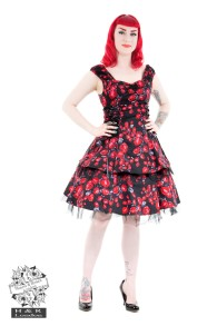 Sorrento red rose dress - sorrento rose dress stl S
