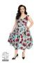 Ditsy 50`s rose floral dress - Ditsy blå stl 6XL