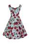 Ditsy 50`s rose floral dress