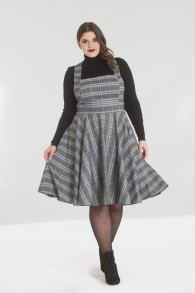 Frostline pinafore dress - frostine pinafore grå stl 2XL
