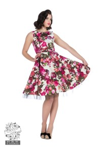 Audrey 50`s Dream Floral Swing dress - Audrey dress stl 4XL