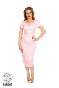 Rosella wiggle dress - rosella smal rosa dress stl XS