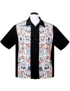 Steady Tiki Skjorta - tiki skjorta stl XS