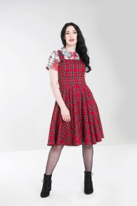 Irvine pinafore dress - irvine pinafore röd stl XS