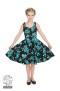 Rosacea Barnklänning - barnklänning turkos/svart stl 11-12