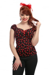 Dolores small cherries top - dolores smal cherries top stl 2XL