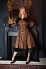 Vintage Pearl Leopard coat