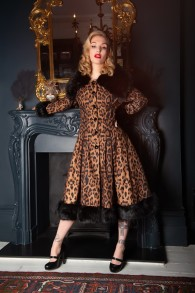 Vintage Pearl Leopard coat - pearl leopard stl 2XL