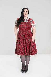 Irvine Pinafore dress - irvine pinafore röd stl  2XL