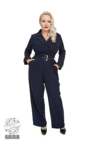 Bettie jumpsuit - Bettie jumpsuit navyblå stl XS