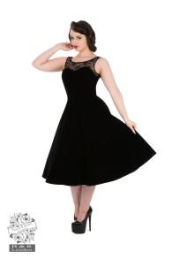 Velvet Romance Evening dress - velvet romance dres svart stl XS