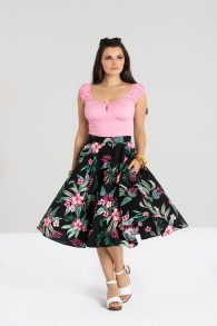 Kalani skirt svart eller gul - kalani kjol svart stl XS