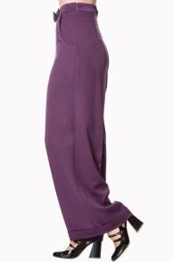 Hidden Away trousers - hidden byxa aubergini stl 2XL