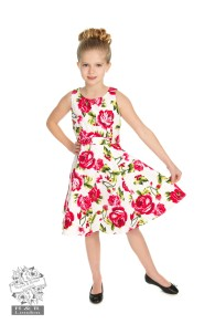 Sweet Rose swing dress kids - sweet roses barn stl 3-4