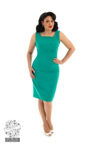 Diana wiggle dress - Diana dress smal, aqua stl XS