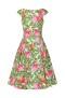 Penny pleated swing dress