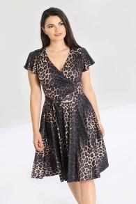 Eartha Leopard klänning - eartha leopard dress stl 2XL