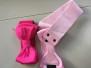 Bella Rosett skärp - bella rosett B skärp rosa stl L