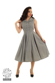 Christine check swing dress - christine check stl XS