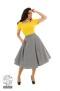 Gloria gingham swing kjol - gloria gingham kjol stl 2XL
