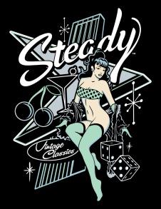 Atomic Steady girl Tee t-shirt - Atomic t-hirt stl S