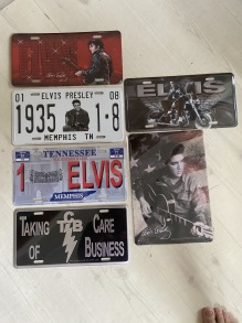 Elvis license plate - Elvis license plate 69 (röd)