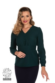 Melanie blouse/top - melanie grön blus/top stl XS