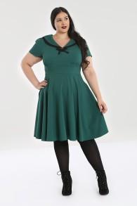 Thea dress - thea dress grön stl 2XL
