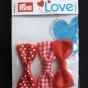 Prym Love 3-p rosetter, välj färg - Rosetter 3-p röda