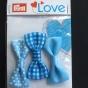 Prym Love 3-p rosetter, välj färg - Rosetter 3-p blå
