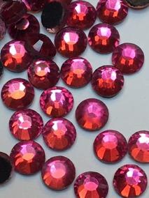 Rhinestones 3,8-4 mm,50 st stark rosa