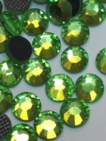 Rhinestones 3,8-4 mm, 50 st gröna