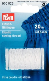 Prym elastisk tråd 20m,välj färg