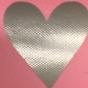 Lappar med vinyltryck för dekoration, välj färg - Rosa lapp, silver