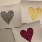 Lappar med vinyltryck för dekoration, välj färg