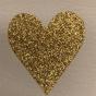 Lappar med vinyltryck för dekoration, välj färg - Vit lapp , guldglitter hjärta