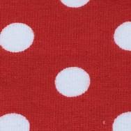 ÖKOTEX Jersey röd/vit prick
