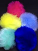 Fuskpälsbollar ca 9 cm,välj färg