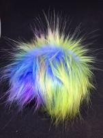 Fuskpälsbollar ca 12 cm flerfärgade