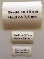 Etiketter med egen text