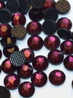 Rhinestones 3,8-4mm, 50 st lila/rosa