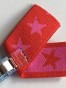 Stjärnresår 2 cm tvåsidig, välj färg - Röd/rosa