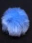 Fuskpälsbollar ca 9 cm,välj färg - Ljusblå