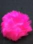 Fuskpälsbollar ca 9 cm,välj färg - Starkt rosa