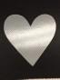 Lappar med vinyltryck för dekoration, välj färg - Svart lapp, silver hjärta