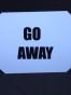 Isskrapor , välj tryck - Go away vit/svart